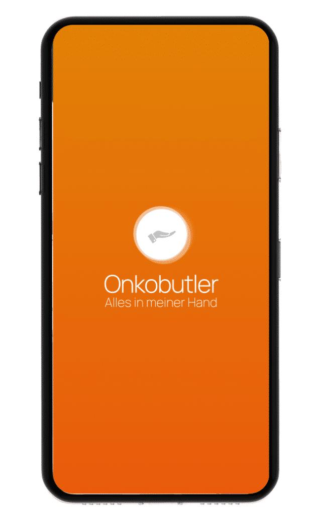 Startbildschirm der Onkobutler Krebs-App.